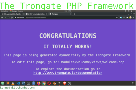 The Trongate PHP Framework